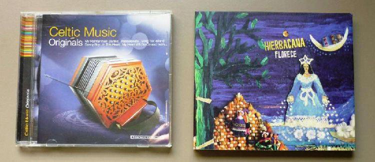 Lote 2 cd. musica celta y hierbacana ideal relajacion