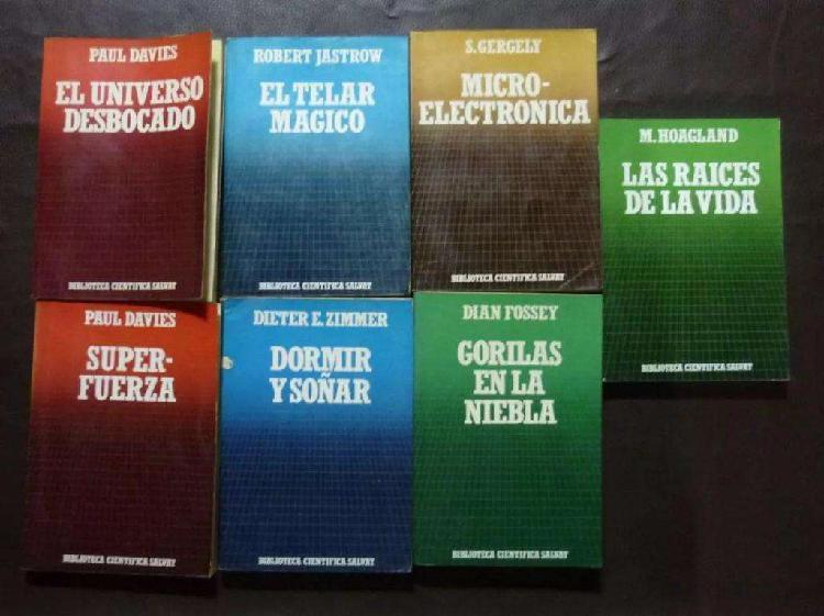 Lote libros colección salvat 1985 7 unidades