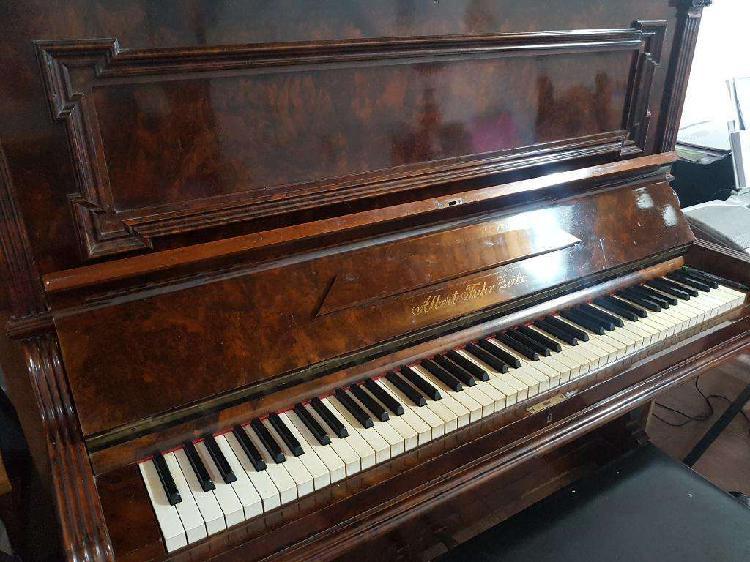 Piano vertical alemán albert fahr zeitz