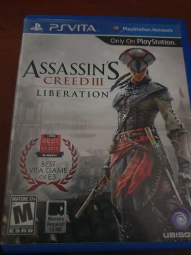 Vendo juego assassins creed iii liberation play station vita