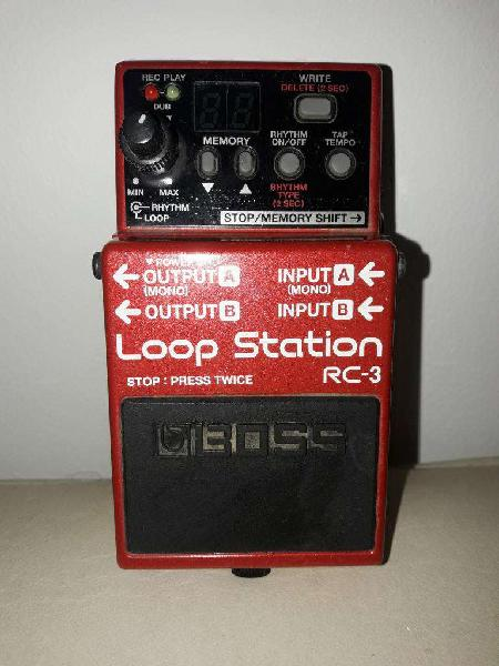 Vendo pedal boss loop station rc3. como nuevo