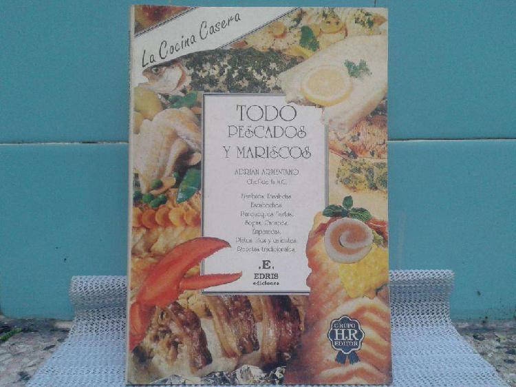 Libro todo pescados y mariscos del chef adrian armentano
