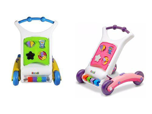 Caminador bebe rondi 3 en 1 guardaobjetos centro actividades