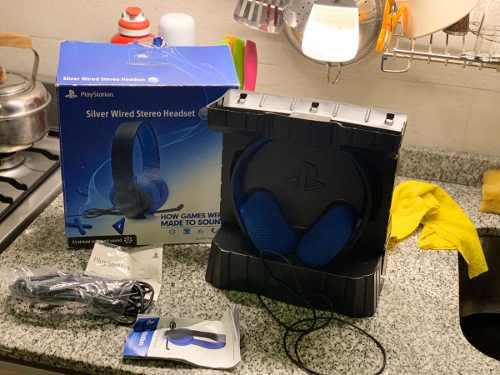 Headset sony silver 7.1 auriculares ps4 ps3 psvita, fallado