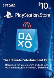 Psn card 10 dólares (cuentas usa) ps3, ps4 ps vita