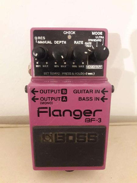 Vendo pedal boss flanger bf3. para guitarra y bajo