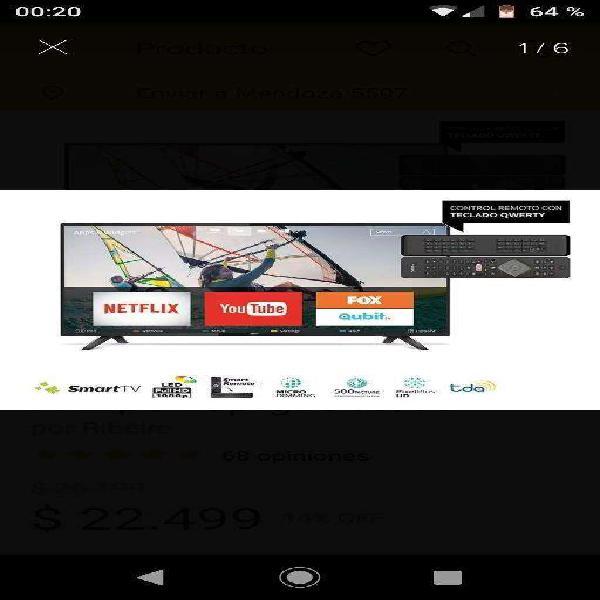 Vendo smart tv philips 43