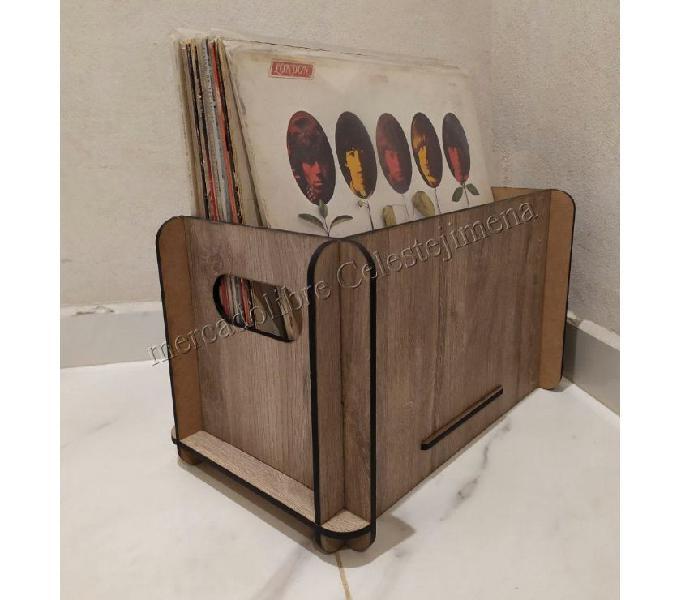Vinilos cajon caja desarmable para discos vinilo libros
