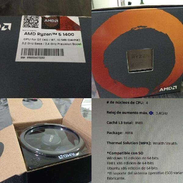 Amd ryzen 5 1400 memorias ram 16 gb 2400 mhz ballistix