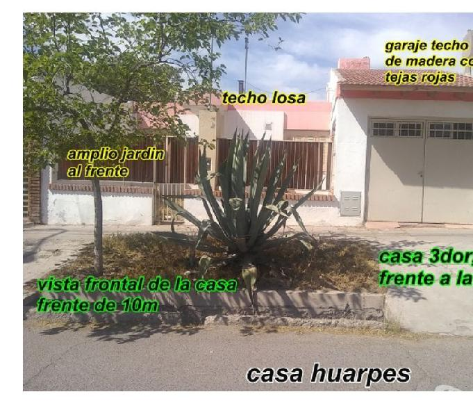 Bº municipal, casa frente a plaza, 3dor, techo losa+cochera