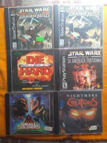 Juegos de play 1 star wars y die hard trilogy
