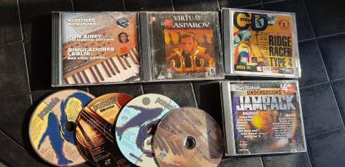 Lote cds juegos playstation 1 originales y pcmania 90s retro