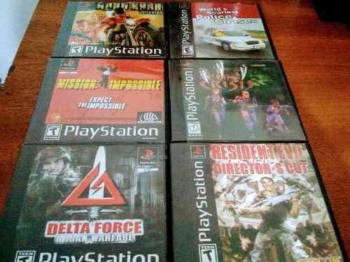 Lote juegos ps 1 discos plateados / discos estampados