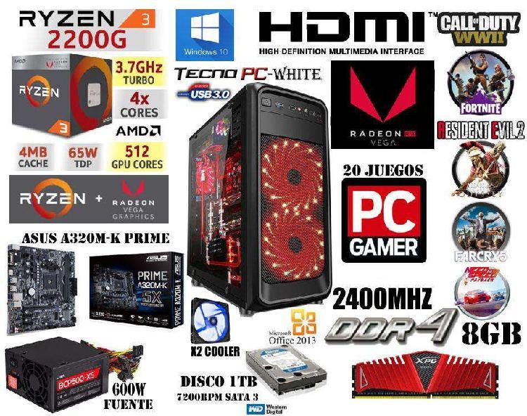 Pc gamer 2 // nueva // ryzen 3 2200g / 1tb / 8gb ddr4 / vega