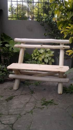 Banco de plaza y jardín madera dura estructura reforzada !!