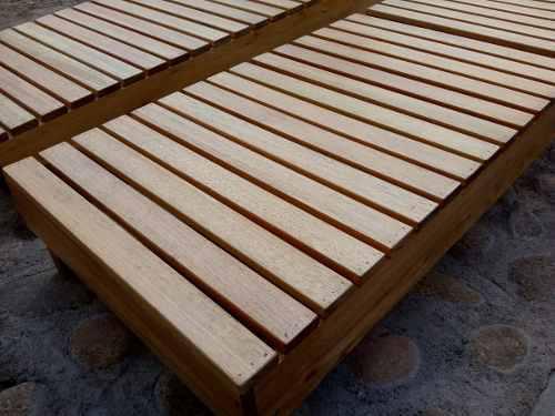 Camastro de madera - linea robusta - rectos o anatomicos