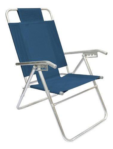 Reposera silla aluminio descansar 5 posiciones coversol