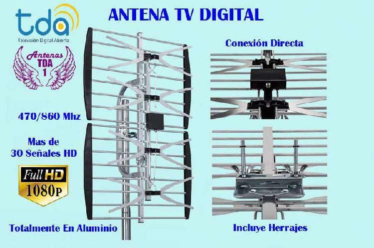 Antena tv digital. panel plano 15db.totalmente en