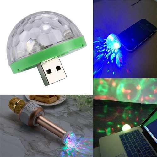 Bola de luz led rgb usb micro tipo c fiesta portatil celular
