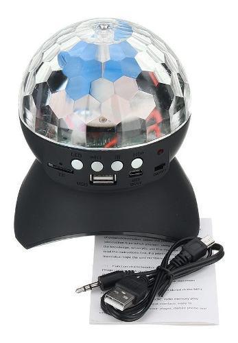 Bola led rgb premium con parlante usb bluetooth