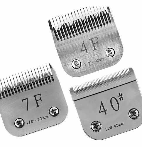 Combo cuchillas peluqueria canina 4f 7f 40 con envio full