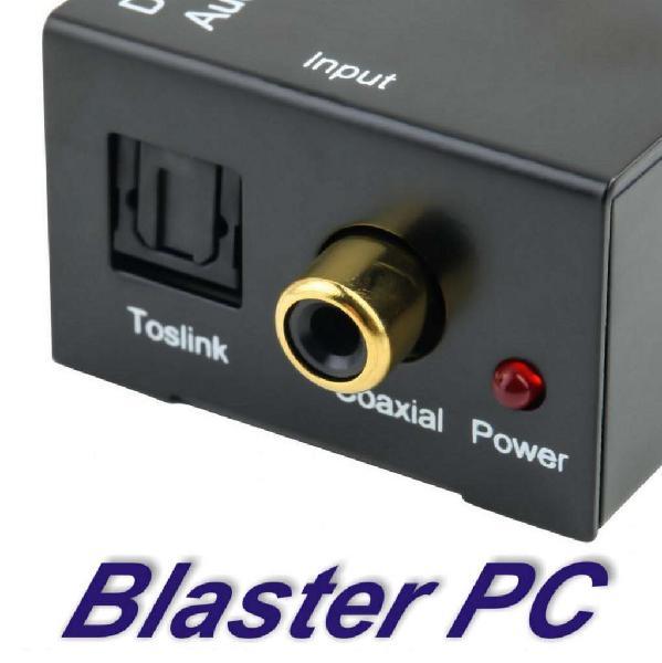 Conversor audio digital a rca plug 3.5mm zona alto rosario