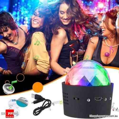 Esfera bola luz led colores portatil audioritmico dj fiesta