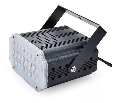 Flash portatil luz 24 led 5050 rgb audioritmico 0781