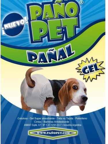 Pañales x 3 unidades para perros mini chico, hasta 6 kg