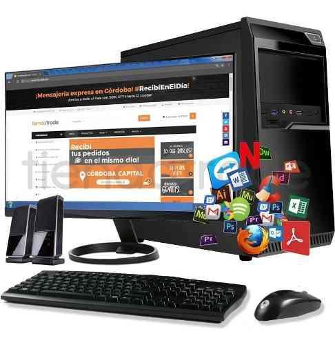 Pc cpu nueva computadora escritorio completa amd monitor