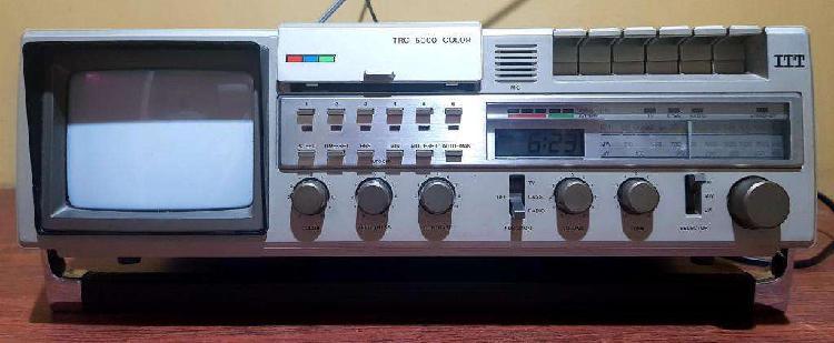 Radiograbador tv color itt alemania 1980 de coleccion