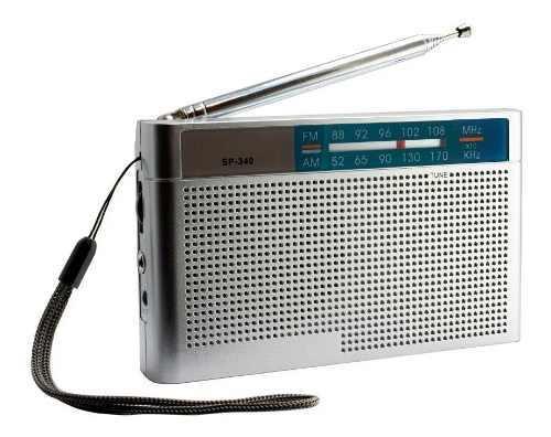 Radio portable retro am fm portatil 2 bandas a pilas gran