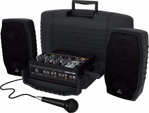 Sistema sonido portatil behringer ppa-200 200watts - oddity