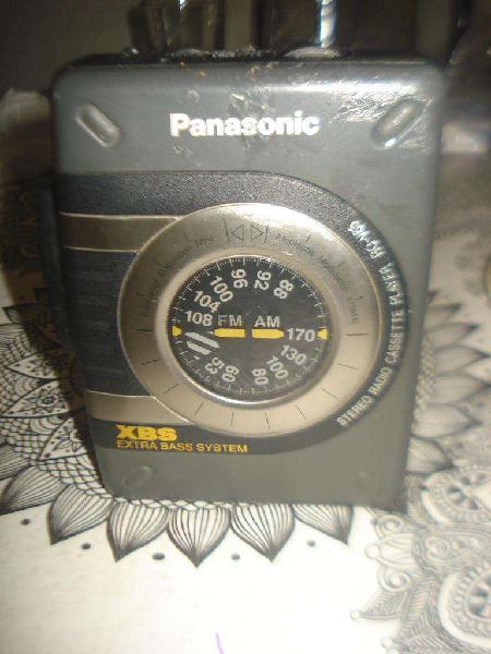 Walkman panasonic rq v38 radios am/fm exc sonido no envio