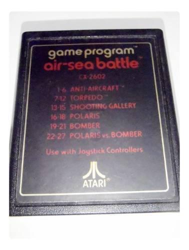 Air-sea-battle cartucho juego atari 2600 rarity *2* funciona