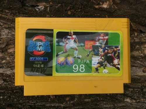 Video juego family game famicom cassette cartucho fifa 98