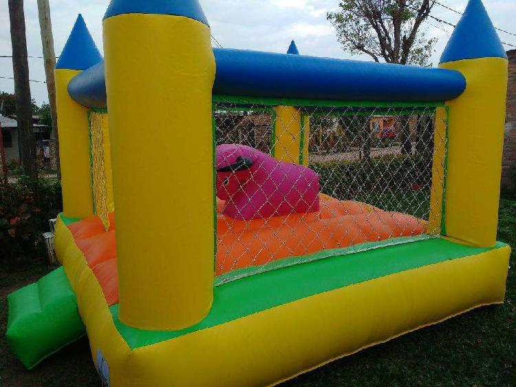 Alquilo castillo inflable y juegos plaza blanda y metegol