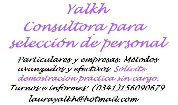 Consultora para selección de personal yalkh