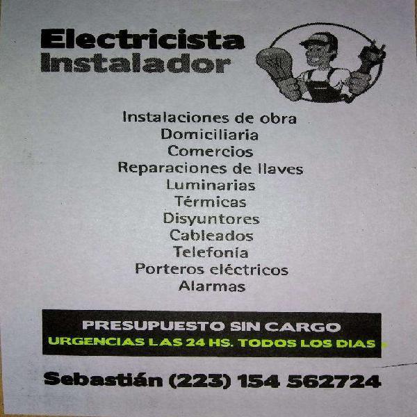 Electricista urgencias todos los días