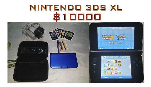 Nintendo 3ds xl con estuche, lápices extra, como nueva