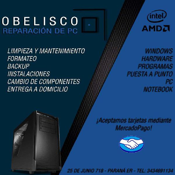 Obelisco servicio técnico computadoras