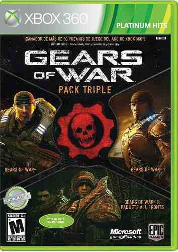 Gears of war pack triple xbox 360 juego cd original fisico