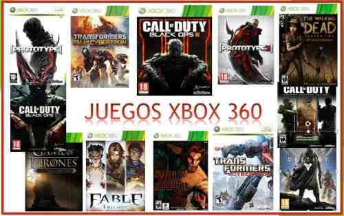 Juegos para xbox 360 original multiregion ntsc
