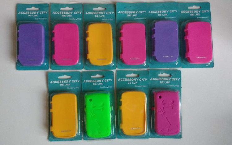 Lote 10 fundas estuches carcasas anticaidas Blackberry 8520