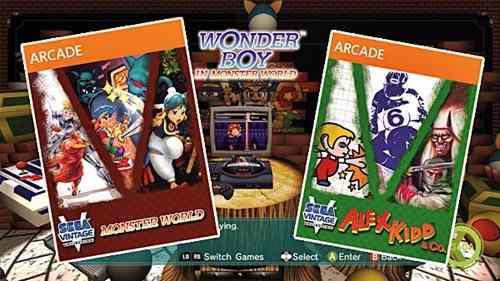 Sega vintage collection: pack x 9 xbla (monster world/