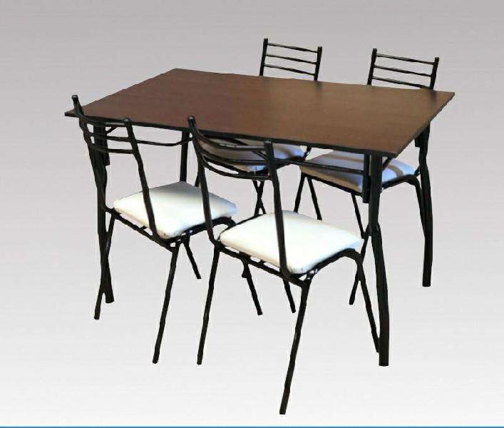 Combo mesa 120 4 sillas caño cuerina