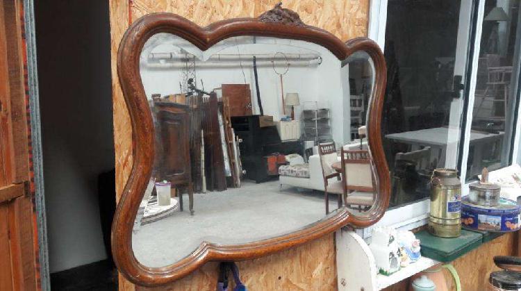 Espejo provenzal marco en roble tallado vicelado 3000