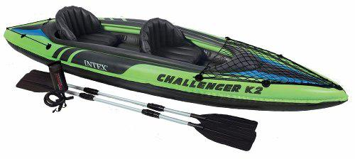 Kayak canoa intex challenger k2 inflable con remos bote