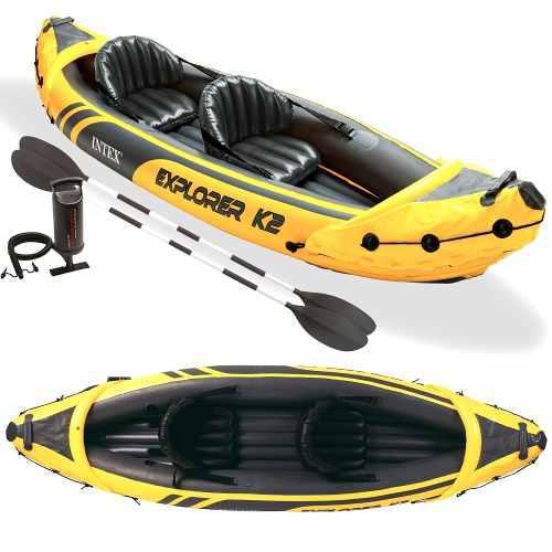 Kayak canoa intex explorer k2 inflable con remos bote