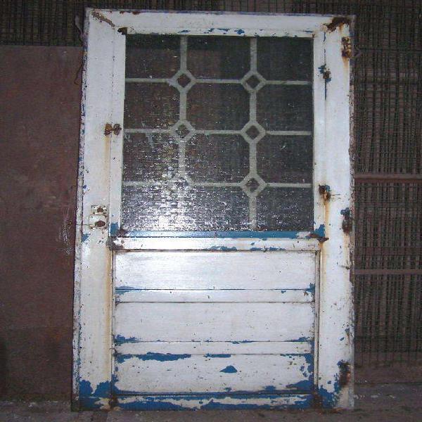 Puerta chapa con vidrio 80 x 200